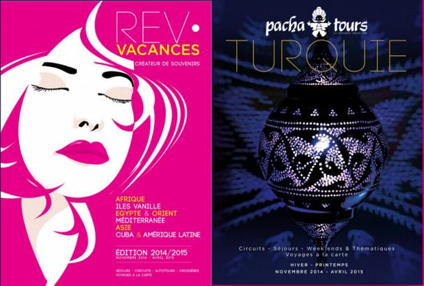 La couverture d e a brochure Rev Vacances vise à séduire les femmes qui constituent la première clientèle des agences de voyages - DR