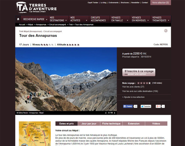 The clients of Terres d'Aventure were able to turn back and avoid the catastrophe - DR: Terres d'Aventure.