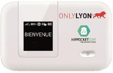Le dispositif de connexion WiFi de poche est devéloppé par OnlyLyon et la start-up locale Hippocketwifi - Photo DR