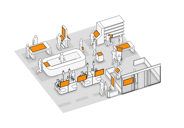 Schéma du magasin digitalisé
