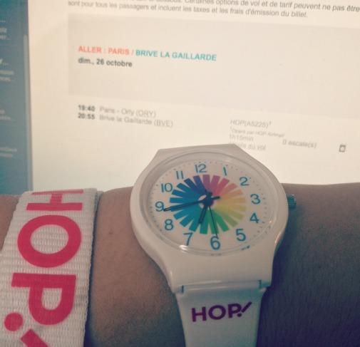 Hop! conseille à ses voyageurs de profiter du changement d'horaire pour dormi une heure de plus dimanche 26 octobre 2014 - Photo DR