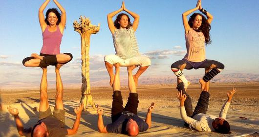 Tout au long du week-end, les villages de la Arava seront les hôtes d'ateliers de yoga animés par les meilleurs professeurs d'Israël, ainsi que par des enseignants tout spécialement venus de l'étranger - DR