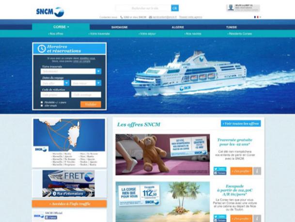 Vue de la future home page du site - DR : SNCM