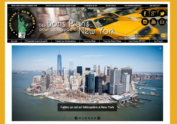 """Le blog d'Alex, """"Les bons plans à New York"""", a réalisé 200 000 euros de chiffres d'affaires en 2013 grâce à l'affiliation uniquement."""