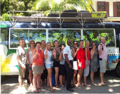 Austral Lagons : 12 agents de voyages de retour des Seychelles
