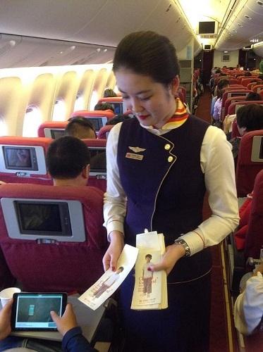 """Avec son programme """"Change for Good"""", Hainan Airlines récolte de l'argent à bord de ses vols pour le reverser à l'UNICEF - Photo DR"""