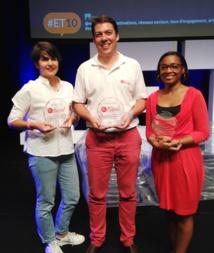 Le remise des prix lors du Trophée du Web Social aux 10e Rencontres nationales de l'e-tourisme.