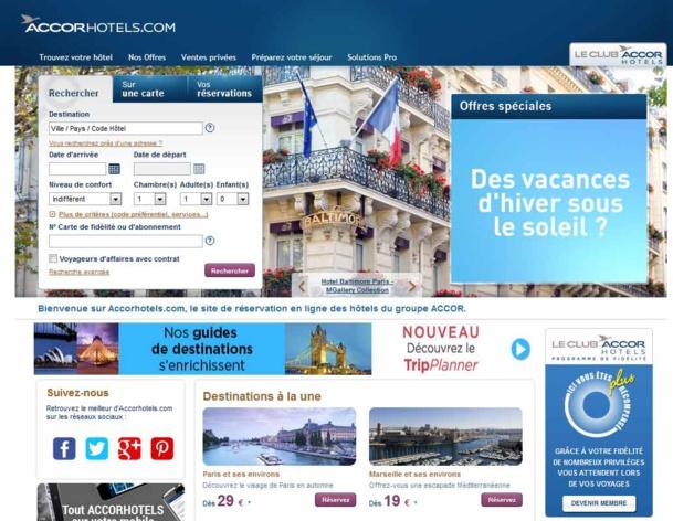 Le Site Accorhotels.com gère une moyenne de 45 . 000 ré servations par jour - DR