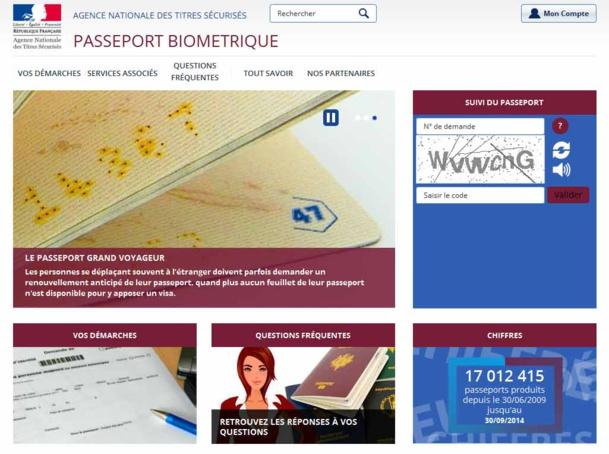 Un site dédié au passeport : passeport.ants.gouv.fr/ a été mis en ligne courant 2014, pour expliquer toutes les démarches à suivre - Capture d'écran
