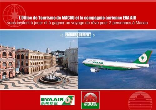 OT de Macao/Eva Air : un voyage pour 2 personnes à gagner