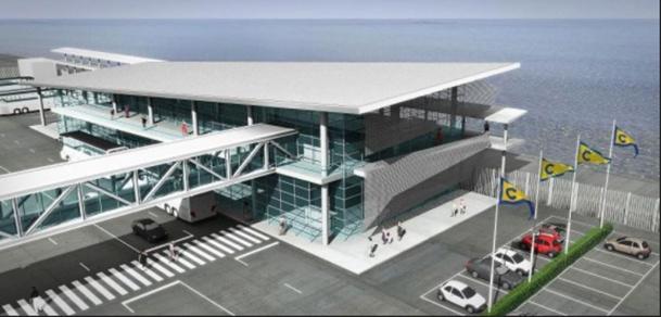 Le second terminal du Palacrociere,  l'infrastructure portuaire de Savone dédiée entièrement à Costa Croisières, a été inauguré le 8 novembre 2014 - DR