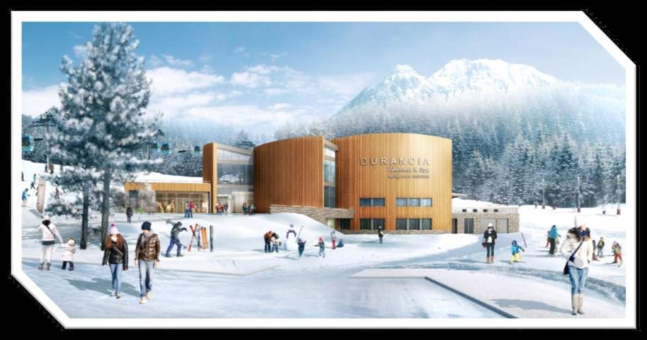Le Durancia, un centre balnéo-ludique au coeur des pistes. Crédit ATLAS architecte Luis Reggiardo. Infograhie Thierry Baille.