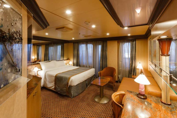 One of Costa Diadema's 64 suites. DR