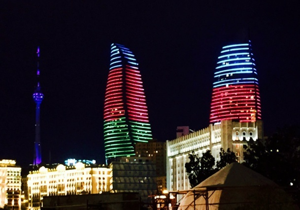 The Flame Towers, symbol of the triumphing Bakou /photo JDL