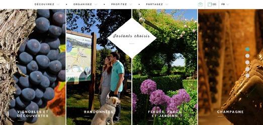 Le nouveau design du site du CDT de la Marne lui permet de s'adapter à une consultation sur smartphones et tablettes - Capture d'écran