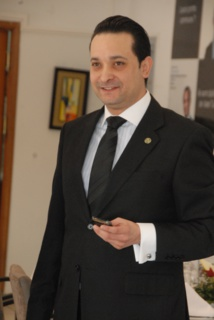 """Abderraouf Tebourbi président fondateur du groupe """"Knowledge Hotel Management"""" qui prend en gestion le Palais Bayram."""