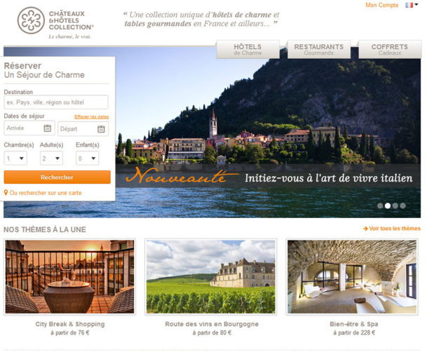 Le site Châteaux & Hôtels Collection - DR