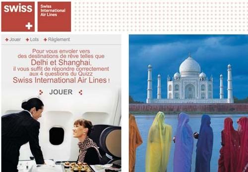 Swiss : gagner un billet pour Shanghai ou Delhi