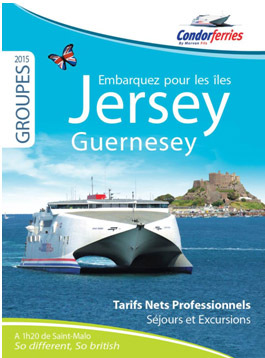 Jersey-Guernesey : Condor Ferries lance sa brochure groupes 2015