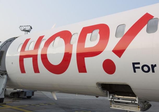 """Hop!, qui devient """"Hop for Air France"""" (c'était trop dur d'écrire Hop pour Air France ?) redevient l'ancienne Air Inter des années 80. - DR"""