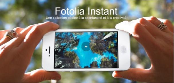 L'application Fotolia Instant est une réponse légitime à ce culte de l'immédiateté en permettant, en plus, aux utilisateurs d'en tirer un bénéfice. L'instant n'attend pas.