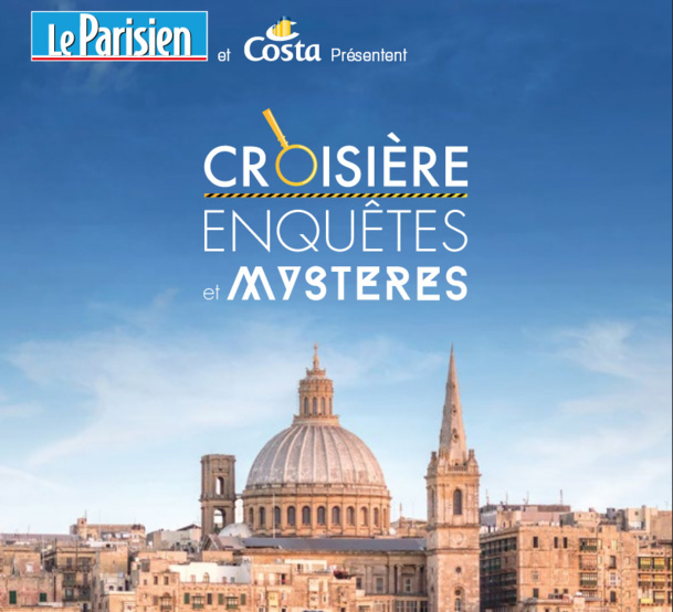 """La croisière """"Enquêtes et Mystères"""" se déroulera du 9 au 16 mai 2015, à bord du Costa Fortuna - DR"""