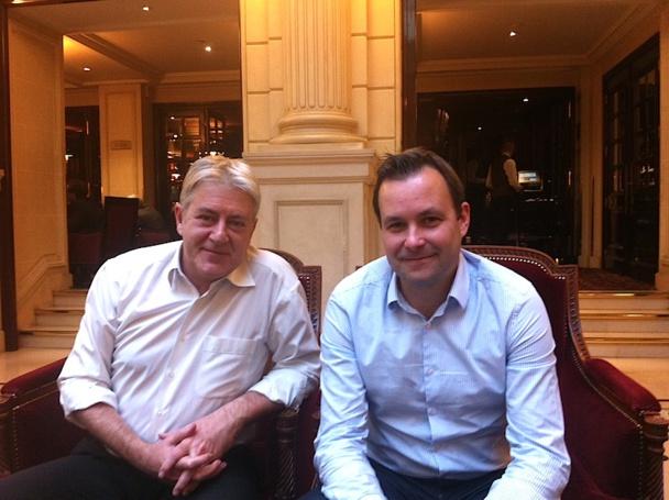 Didier Legault Fraslin, le directeur commercial France avec Edo Friart, le directeur développement international de Volotea espèrent séduire 2,5 millions de voyageurs l'an prochain. DR LAC.