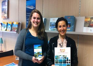 Camille Gaillard (à gauche) d el'agence Prêt à Partir de Metz est la grande gagnante du concours de Top of Travel - Photo DR