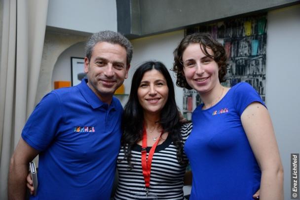 Laurent, Shaina Skorak Sibony (Directrice des Ventes Fattal Hotel Chain) et Efrat Groman.
