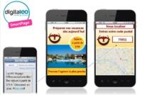 """Les Smartpages bénéficient de la fonctionnalité """"Store Locator"""", qui permet d'afficher la liste de points de vente à proximité, sous forme de plans, selon le lieu où les clients se trouvent."""