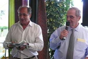 Jean-Pierre Mas, président de la commission Air, et Georges Colson ont oeuvré à la tenue du Conseil national à Toulouse.  Avec en point d'orgue de cette journée la visite de la chaîne d'assemblage de l'Airbus géant A380