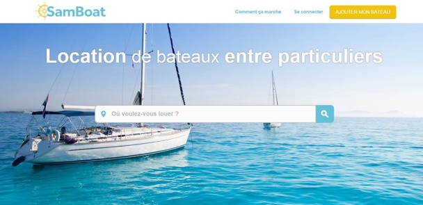 SamBoat, la location de bateaux entre particuliers