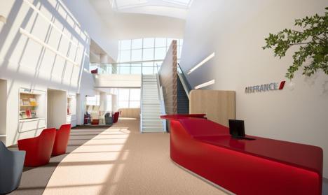 Le nouveau salon Business d'Air France à New York JFK a été conçu par Brandimage - Photo DR