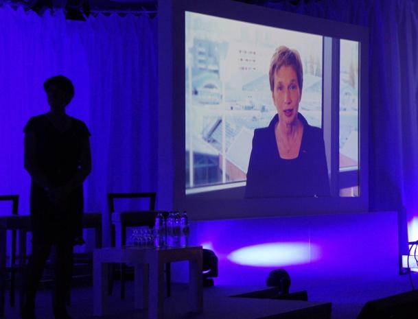 Laurance Parisot s'est exprimée à l'occasion du Congrès Selectour Afat à Split dans un message vidéo - Photo CE