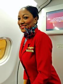 Hilary Voncere, est chef de cabine de cette formidable team de PNC et est aux petits soins avec ses passagers.../photo JDL