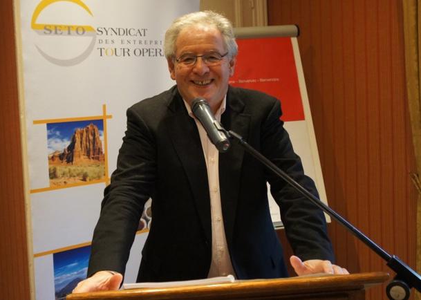René-Marc Chikli, président du SETO à l'occasion du Forum du SETO à Deauville - Photo CE