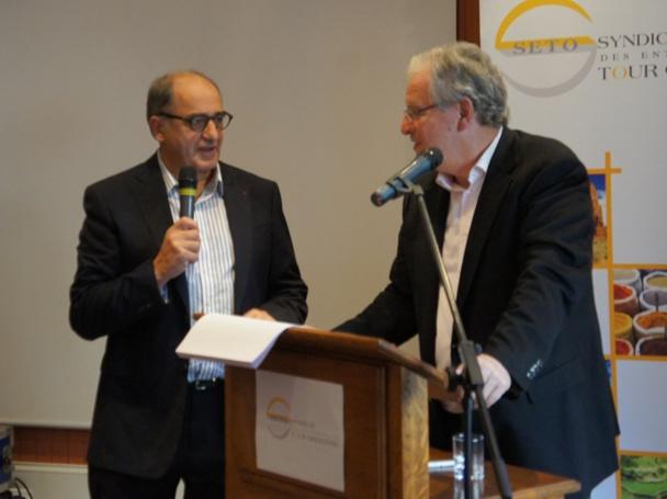 Jean-Pierre Mas, président du SETO était invité par René-MArc Chikli, président du SETO au forum du SETO qui se tient à Deauville - Photo CE