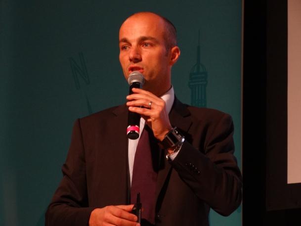 """Thomas Desplanques :""""« Nous voulions aussi permettre aux spécialistes du tourisme de groupe et aux autocaristes, dont le métier est complémentaire des professionnels présents sur IFTM Top Résa, d'accéder aux deux salons. C'est pourquoi l'année prochaine nous proposerons un badge unique » /photo JBH"""