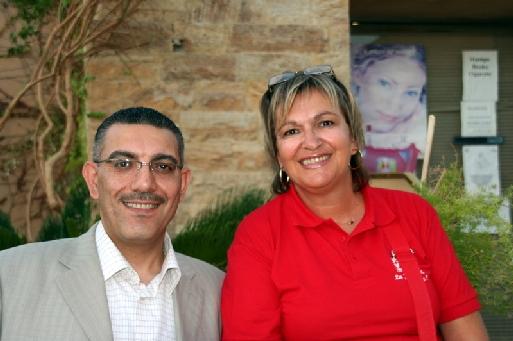 Carole Pellicer, DG délégué de Plein Vent et Raed Haddad, propriétaire du Coral Bay