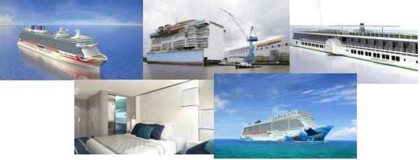 5 nouveaux navires de croisières entreront en service en 2015 - Photos DR