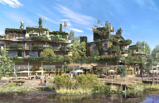 Le futur Villages Nature aux portes de Paris bénéficie du soutien du premier ministre Manuel Valls - DR : Villages Nature.