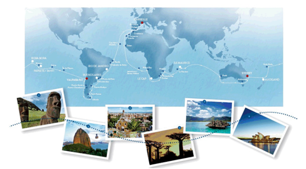 Le Deliziosa fera le Tour du Monde par l'hémisphère Sud en 114 jours - DR : Costa Croisières