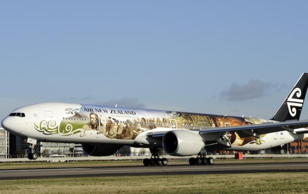 La compagnie Air New Zealand avait décoré l'un de ses avions avec les personnages de Peter Jackson - DR : Air New Zealand