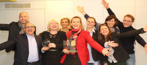 Sylvie Brisson, DRH du Club Méditerranée, entourée de plusieurs membres de l'équipe RH - Photo DR