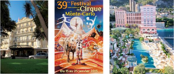 L'Hôtel Hermitage et le Monte-Carlo Bay proposent une formule spéciale pour la 39e édition du Festival International du Cirque de Monte-Carlo - DR