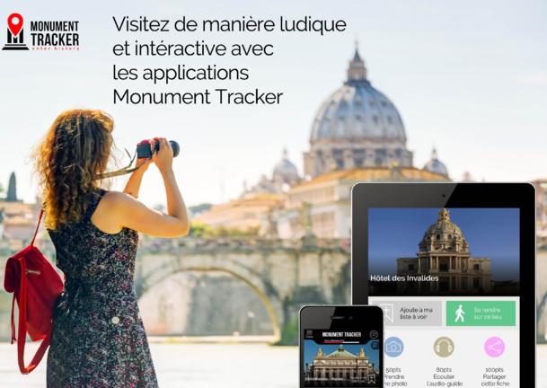 La refonte de l'application Monument Tracker tend à améliorer l'engagement du mobinaute.