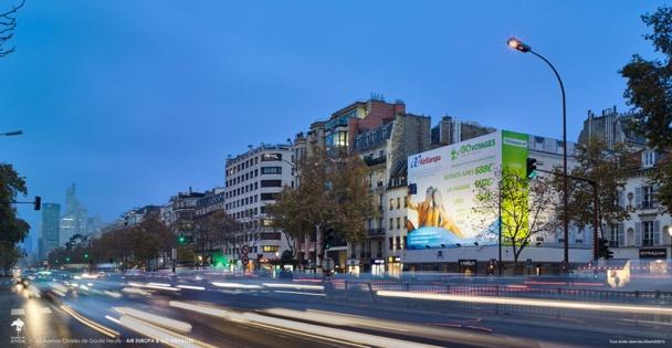 L'avenue Charles de Gaulle à Neuilly-sur-Seine est fréquentée par environ 185 000 véhicules chaque jour - DR : Athem@2014