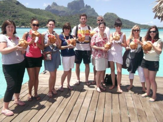 Les agents ont visité une vingtaine d'hôtels sur plusieurs îles de Polynésie - Photo DR