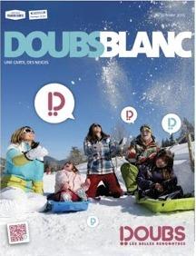 Doubs Blanc est édité à 20 000 exemplaires et distribué gratuitement - DR : Doubs Tourisme