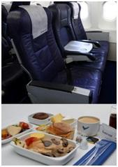 La classe Affaires d'Aigle Azur propose de larges sièges en cuir - Photo DR